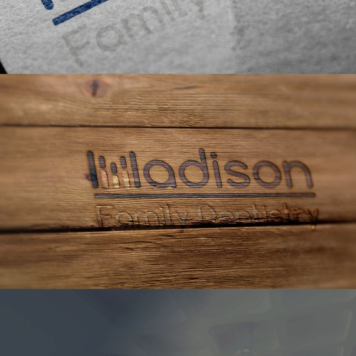 Orthodontic brand with the title 'dental logo for madison'