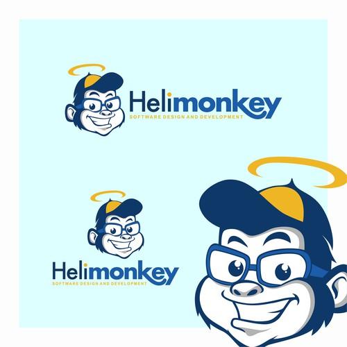 Jungle logo with the title 'Heli Monkey'