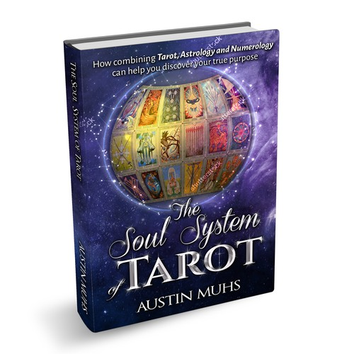 Tarot design with the title 'tarot astrology and numerology  The soul system of tarot'