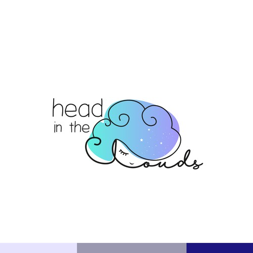 Cloud logo with the title 'Head in the clouds'