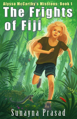 Jungle design with the title 'Frights of Fiji'