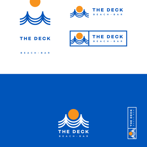 Sun brand with the title 'Logo and branding exploration for beach bar'
