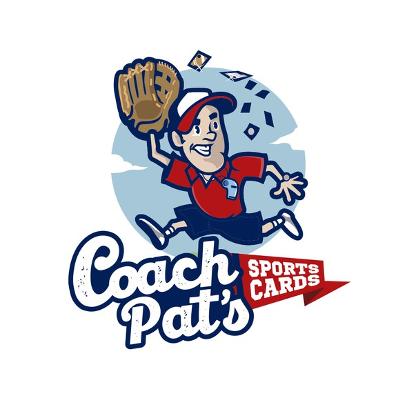 Football brand with the title 'Coach Pat's Sport Cards'