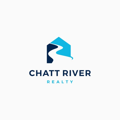 Mortgage logo with the title 'House river logo'