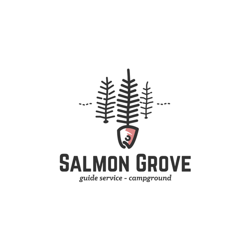 Salmon design with the title 'Salmon Grove'