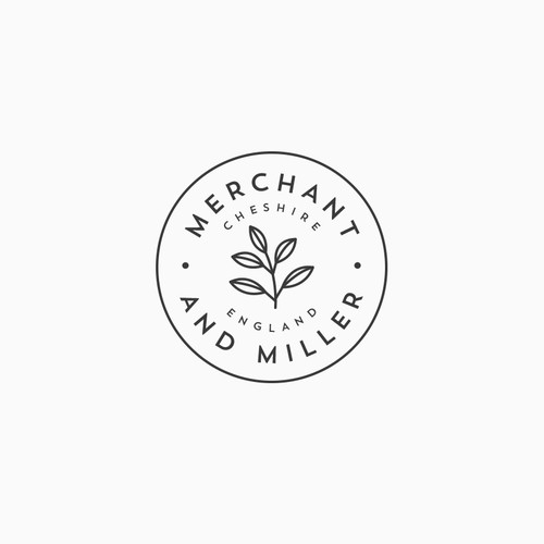 Tea logo with the title 'Logo for Merchant & Miller'