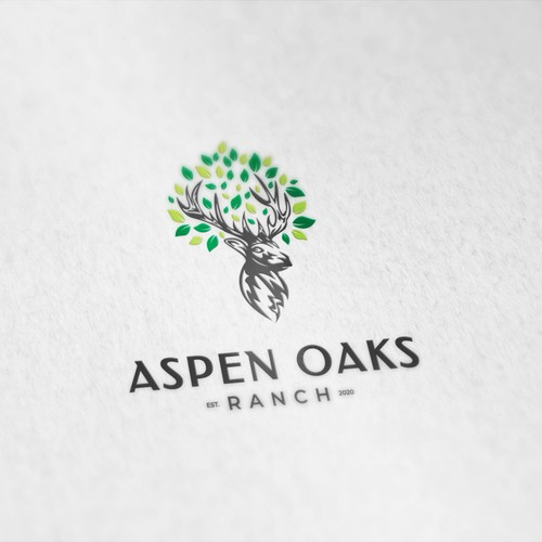Oak tree design with the title 'Aspen Oaks'