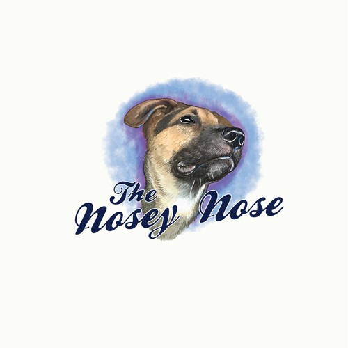 Rottweiler logo with the title 'the nosey nose'