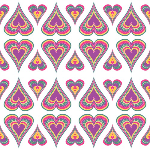 Heart design with the title 'Create a collection of Pattern Designs for a high end baby swaddle blanket'