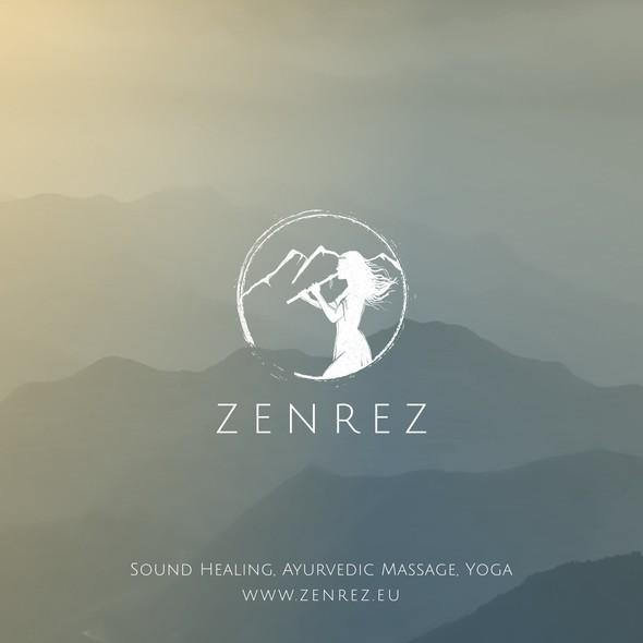 Zen design with the title 'Logo Design for Sound Healer'