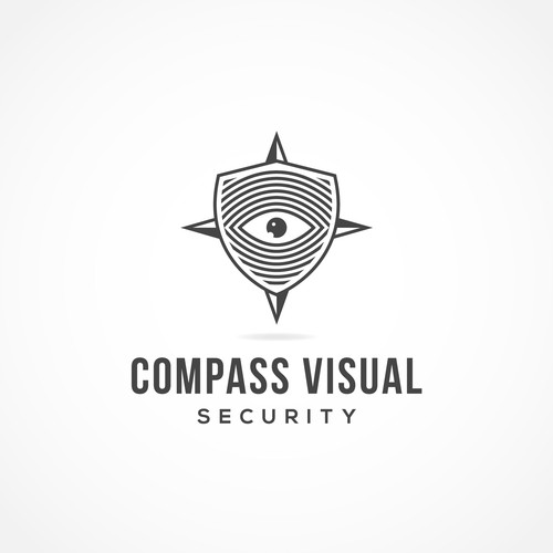 Eye brand with the title 'Compass Visual Security'