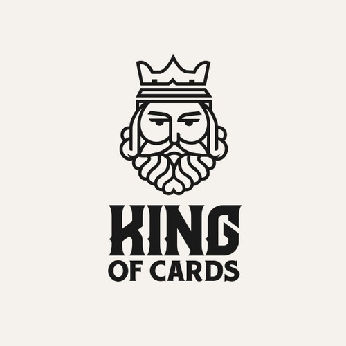 King logo with the title 'playing card company logo'