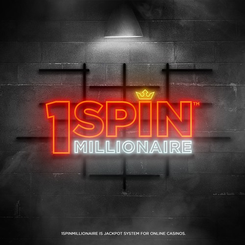 Casino design with the title '1SPIN MILLIONAIRE'