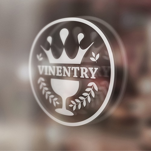 Glass brand with the title 'Vinetry'