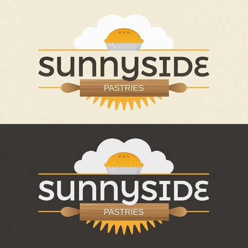 Pie logo with the title 'Sunnyside Pastries'