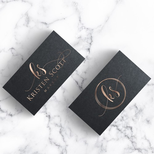 Rose gold design with the title 'Makeup Artist in need of CLASSY and LUXURIOUS logo'