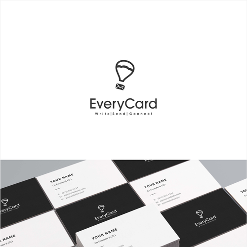 Conceptual design with the title 'Simple logo for greeting cards company'