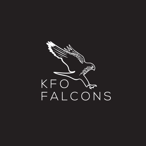 Falcon wings logo with the title 'Logo for Falcons breeding farm'