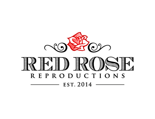 Traditional logo with the title 'Red Rose Reproductions'