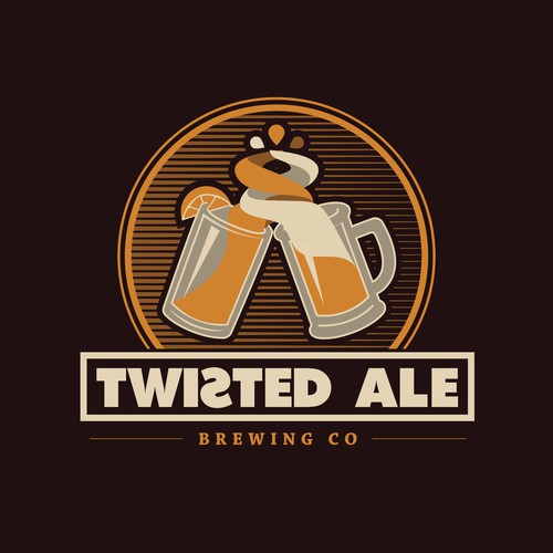 Twist logo with the title 'Logo for a brewing company'