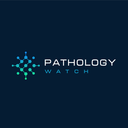 Medical brand with the title 'Patology wath laboratory scientific logo'