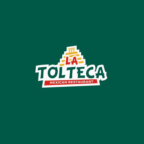 Mexican restaurant design with the title 'La Tolteca Logo Design'