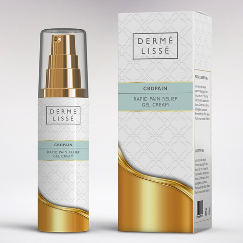 Brand packaging with the title 'Packaging for Dermè Lissè'