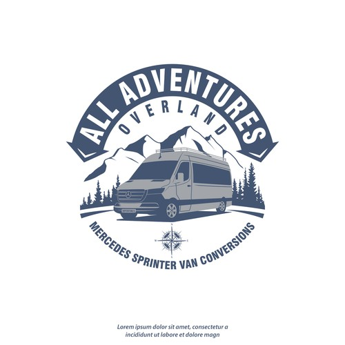 Mercedes design with the title 'Logo All Adventures Overland'