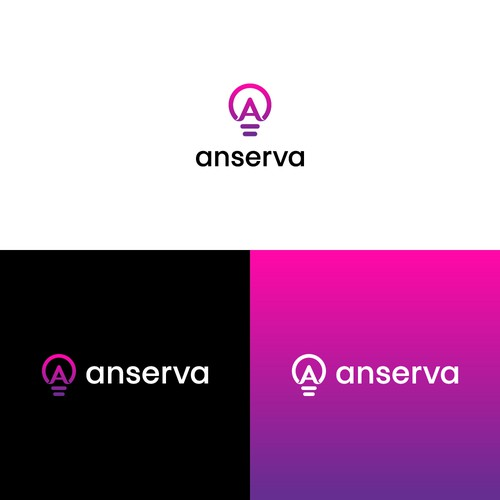 A design with the title 'Anserva Logo'