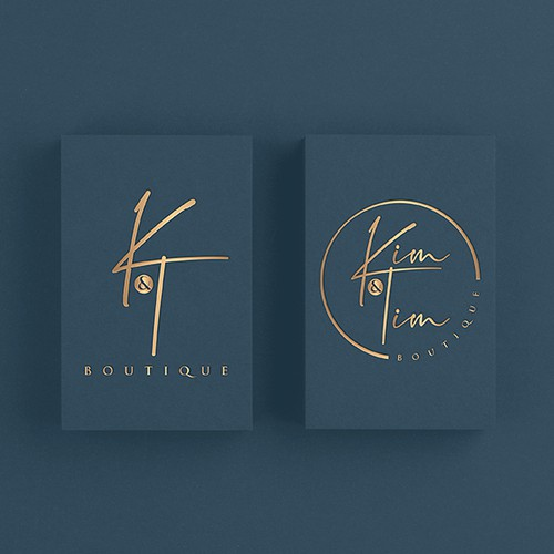 Class logo with the title 'Kim & Tim Boutique'