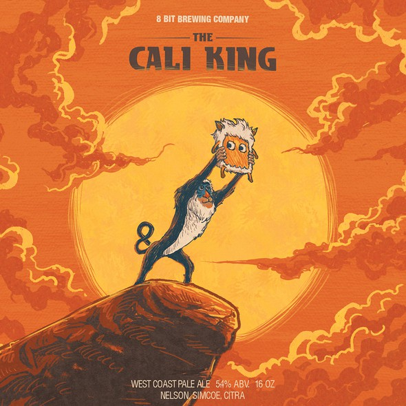 Lion King design with the title '8bit-The Cali King'
