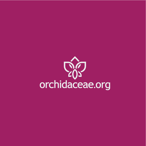 Flower logo with the title 'Orchidaceae Logo'