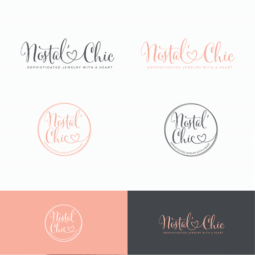 Jewelry design with the title 'Logo for Nostal Chic jewelry'