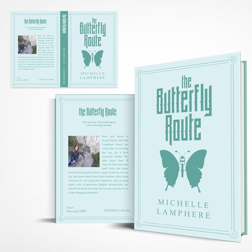 Butterfly book cover with the title 'Book Cover Submission'
