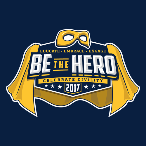 Theme design with the title 'Logo concept for Be the Hero'