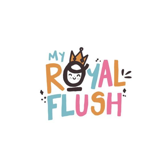 Fun logo with the title 'Royal Flush'