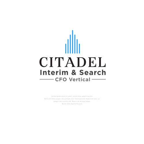 Accounting design with the title 'Logo concept for Citadel'