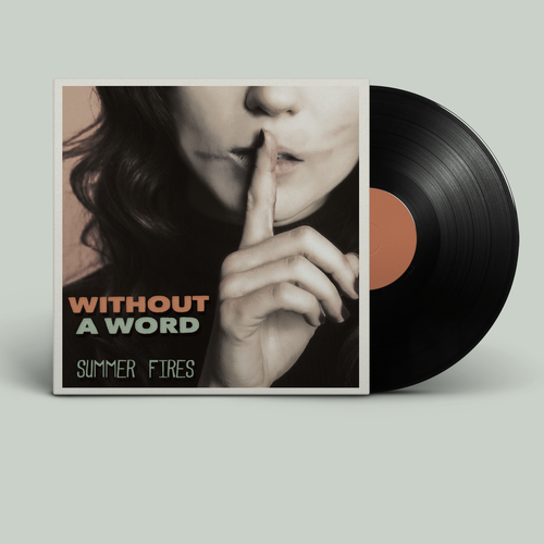 Music packaging with the title 'vinyl package layout and design for indie band'