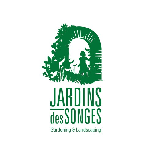 Decorative brand with the title 'Jardins des Songes / Garden of Dreams'