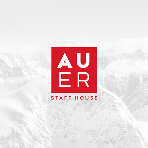 House logo with the title 'Austrian employee accommodaton logo design'