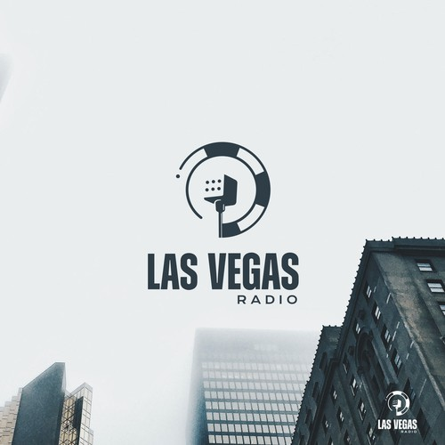 Microphone design with the title 'Las vegas radio'