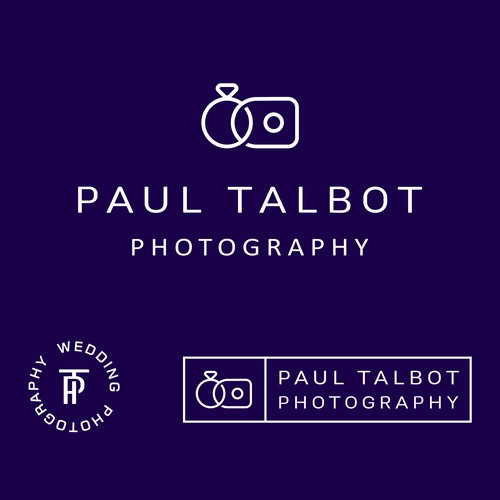 Photography brand with the title 'Concept for wedding photographer'