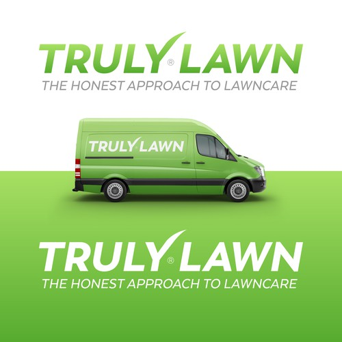 Lawn care logo with the title 'Truly Lawn'