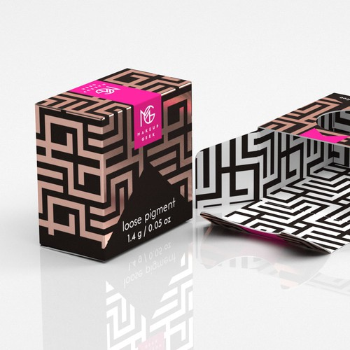 Foil design with the title 'Makeup Box'