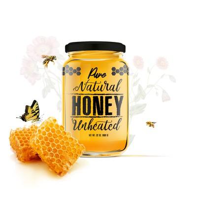 蜂蜜瓶的醒目标签