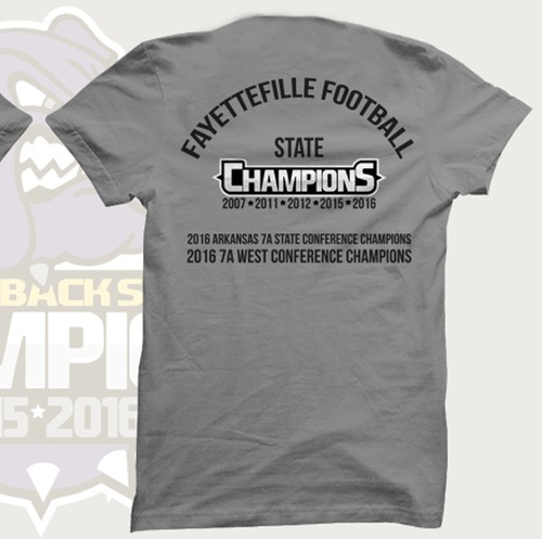 Team t-shirt with the title 'T-Shirt Design Concept for Fayettefille Foot Ball Club'
