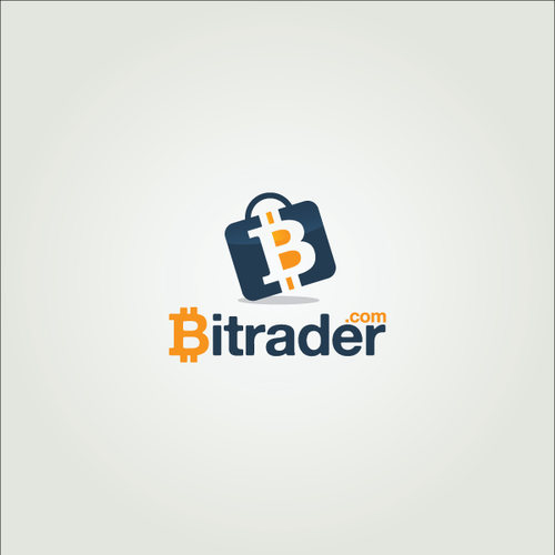 Suitcase logo with the title 'Create a logo for the new Bitcoin marketplace.'