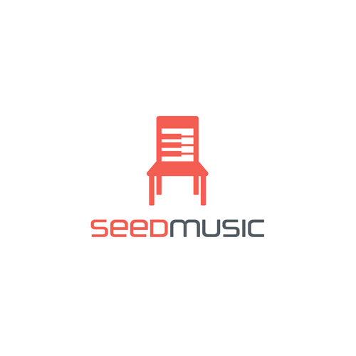 Chair logo with the title 'SEED MUSIC'