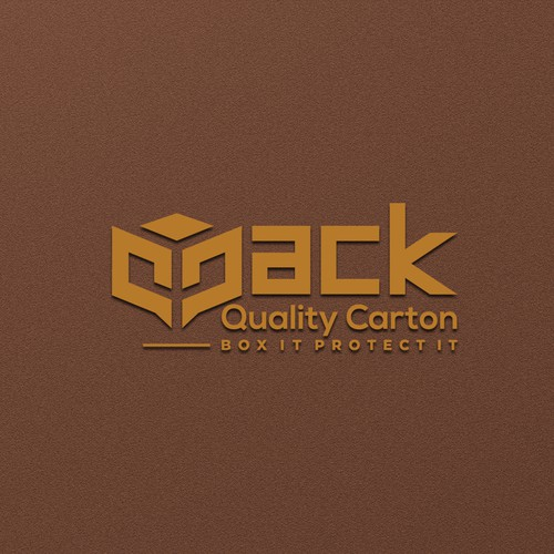 Cartoon design with the title 'simple, clean, and proportional logo design for qpack'