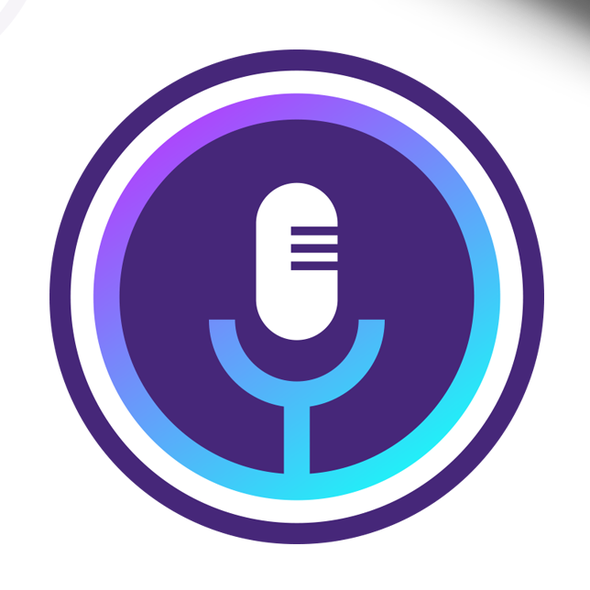 Light blue design with the title 'App Icon for VoiceSearch'